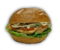 Csirkeburger + Hasábburgonya
