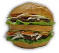 Retroburger XXL + Hasábburgonya