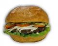 Sajtos Bacon Burger + Hasábburgonya